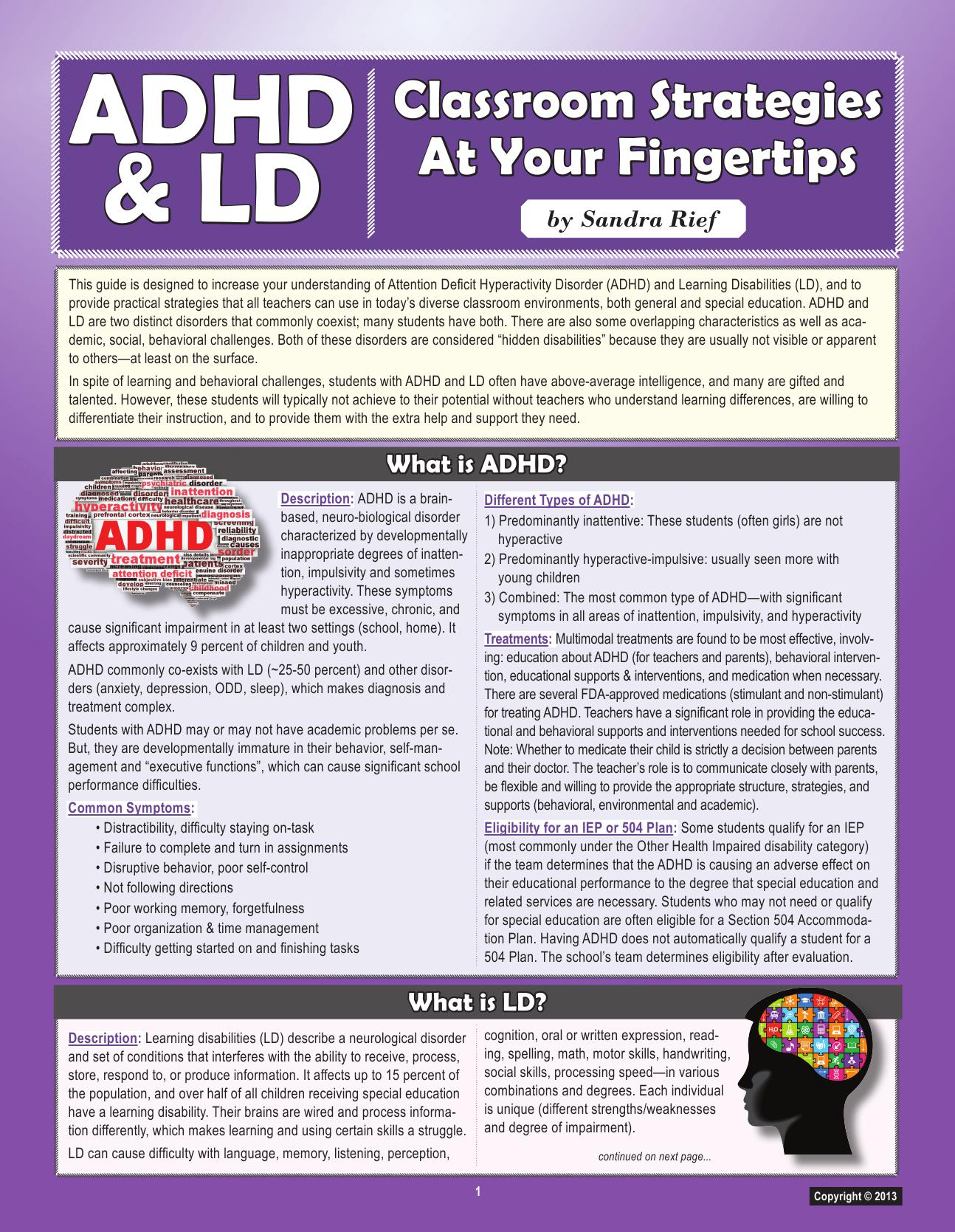 various views on adhd and the most common treatment methods