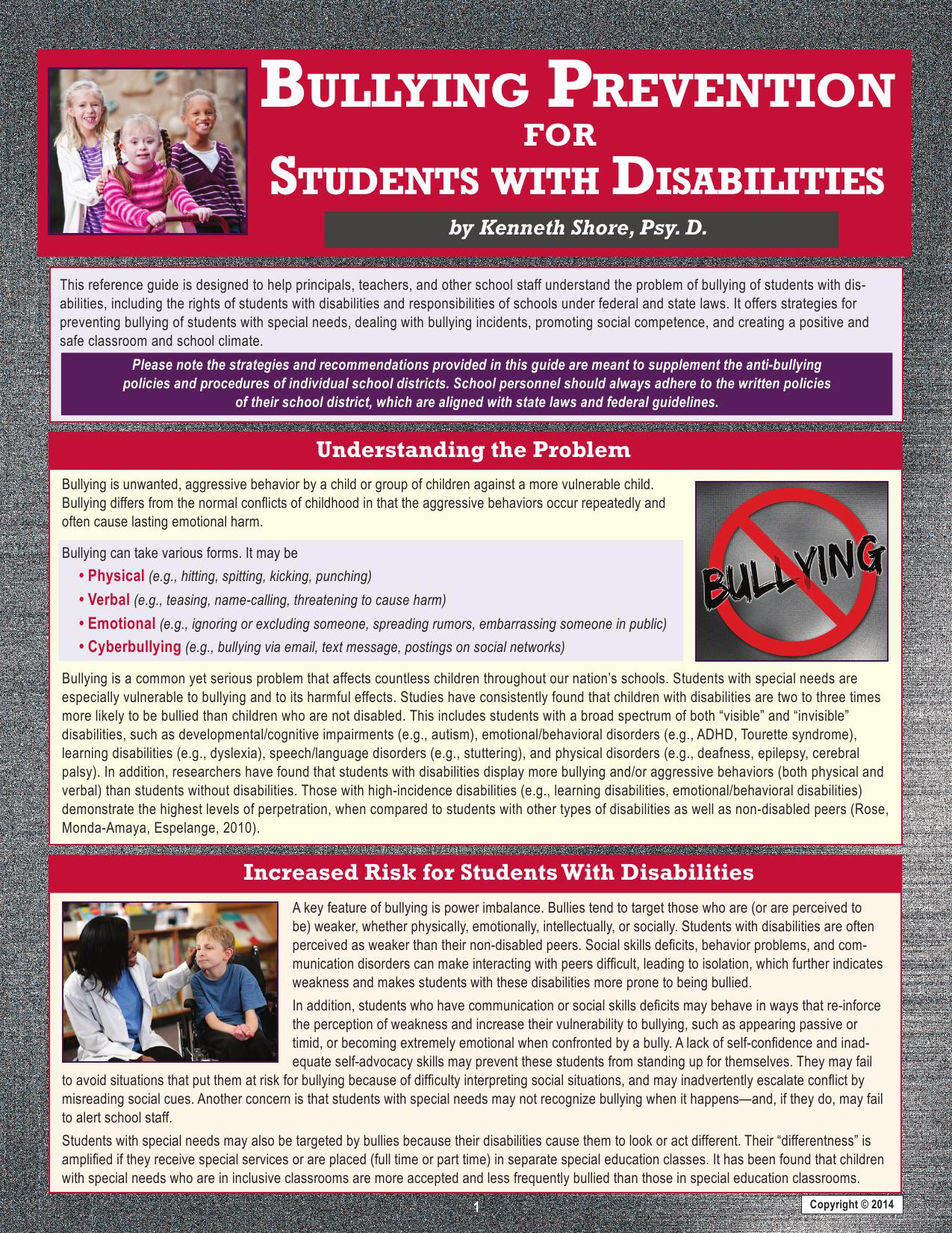 various principles to help students with disabilities